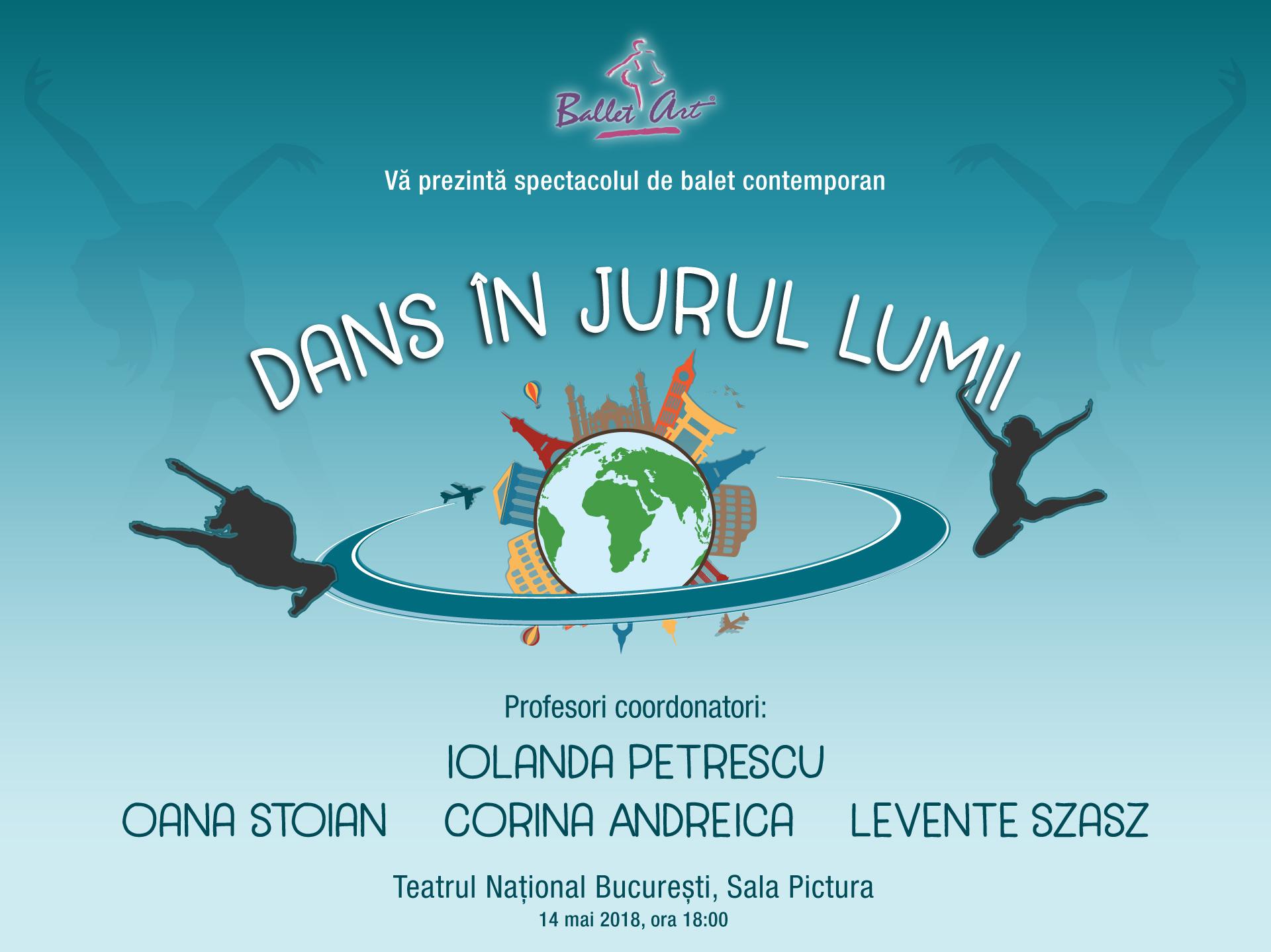 Pe 14 mai vă invităm la spectacolul: Dans în jurul lumii