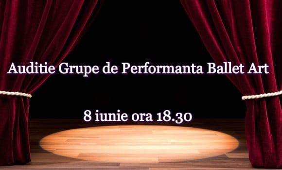 Audiție pentru înscriere la grupele de avansați Perform 1 și Perform 2 ale Academiei de Dans Ballet Art