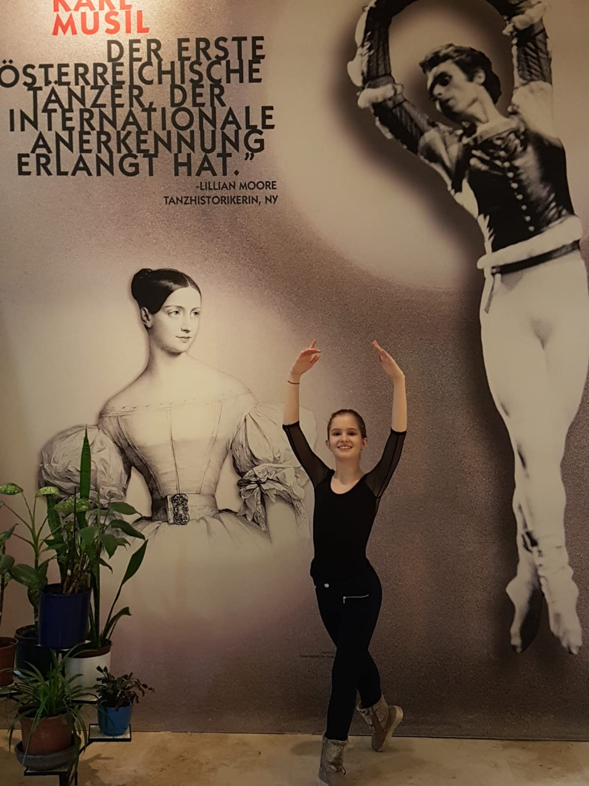 "Mara Bitirez, eleva Ballet Art, a fost admisă la ""Ballettakademie Wiener Staatsoper"